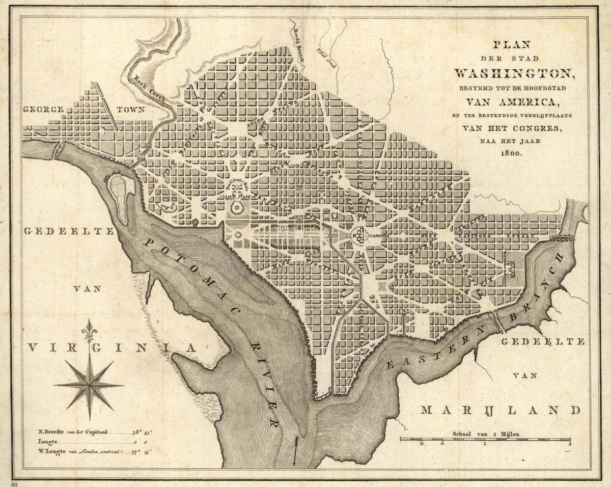 Historiallinen Kartta Washington Dc Kartta Historiallinen Kartta