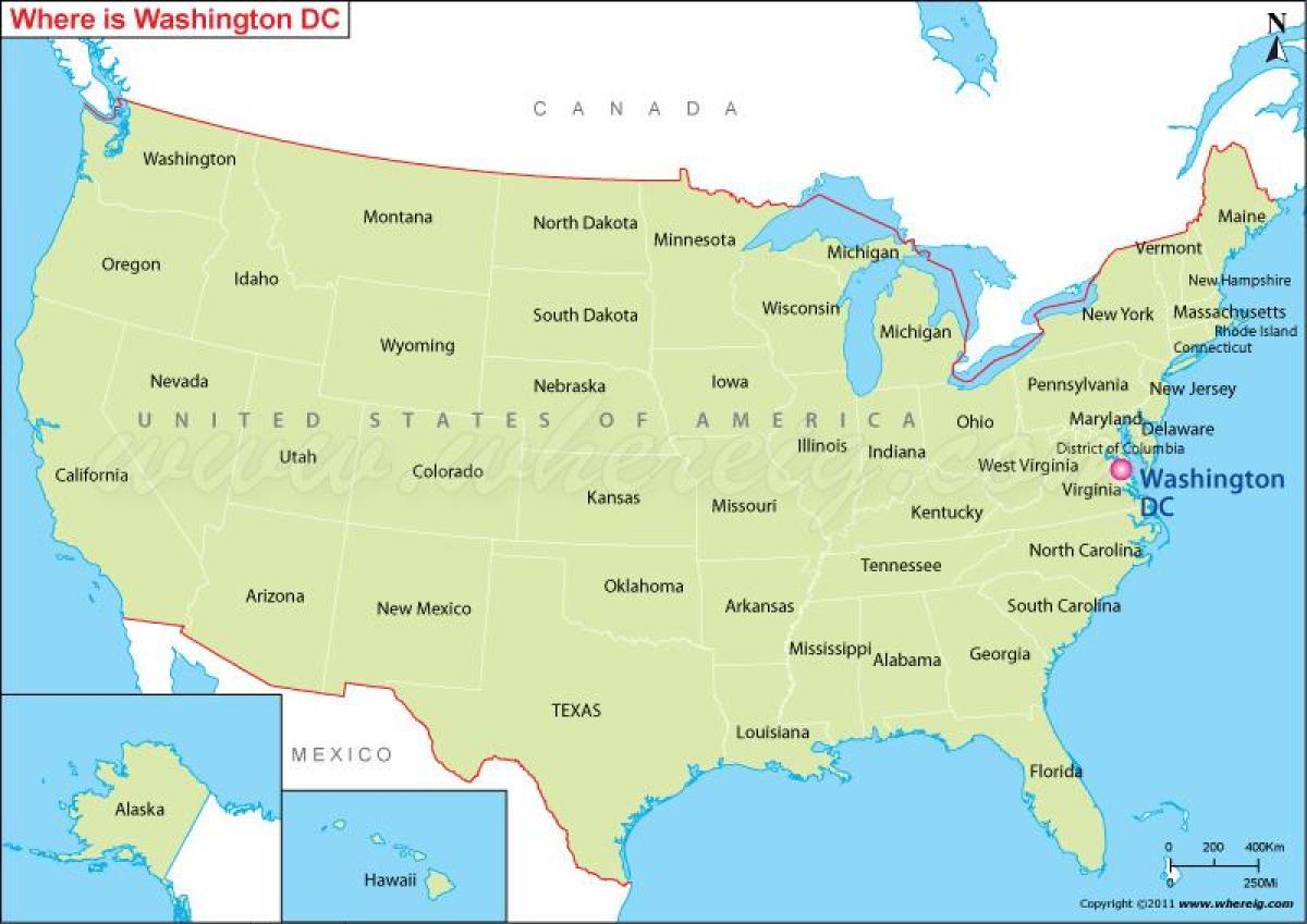 Yhdysvaltain Kartta Ja Kaupungit Yhdysvaltojen Kartta Jossa