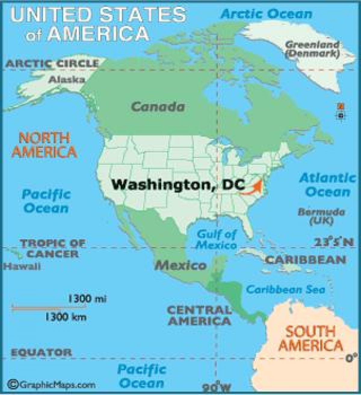 Washington Dc Maailman Kartta Washington Maailman Kartta