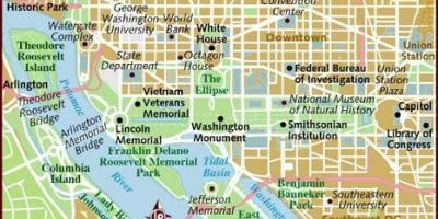 Washington Dc Dc Kartta Kartat Washington Dc Dc District Of